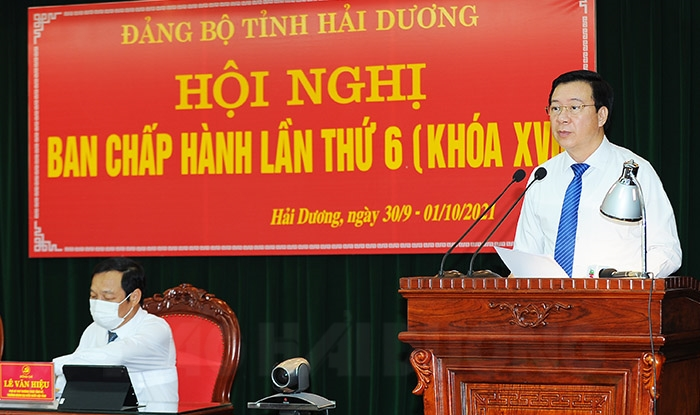 Khai mạc Hội nghị lần thứ 6 Ban Chấp hành Đảng bộ tỉnh khóa XVII